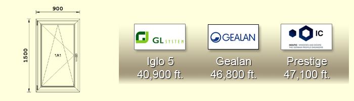 150X900-as műanyag ablak árak