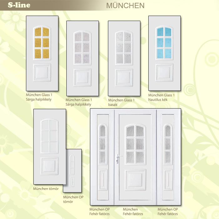 S-line München műanyag ajtó