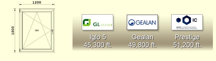 1500X1200 cm-es műanyag ablak árak