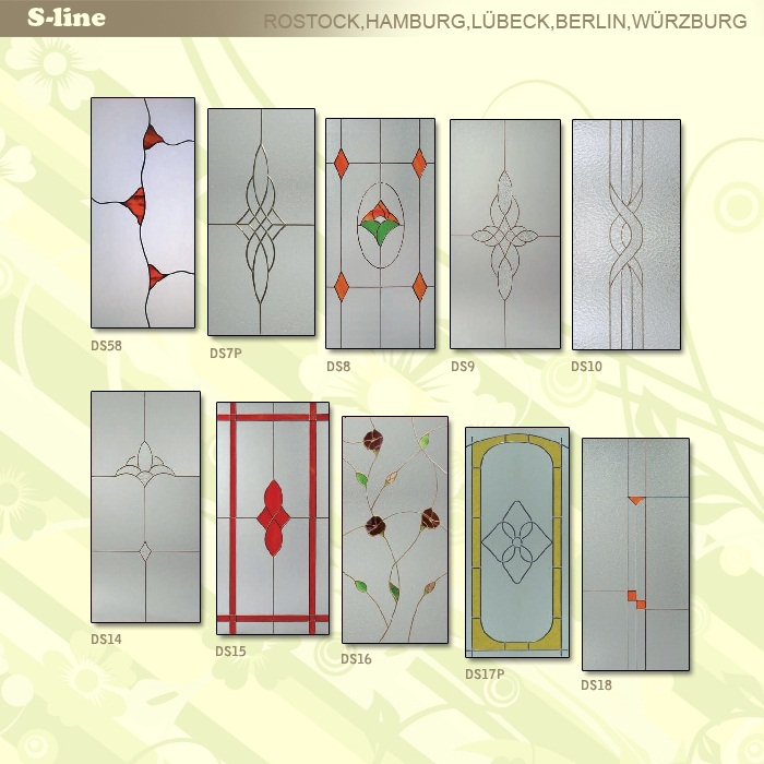 S-line ajtó üveg