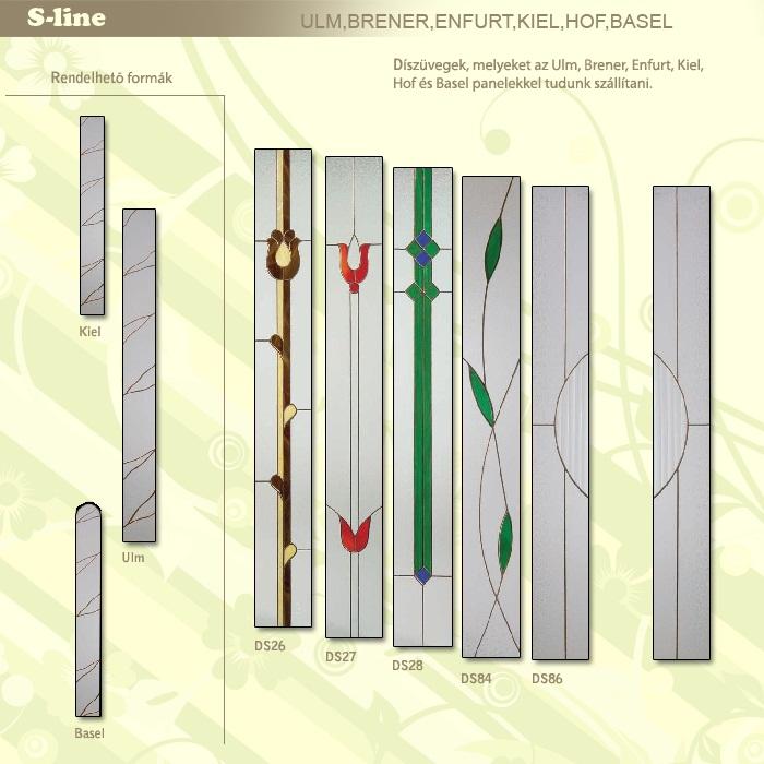 S-line rendelhető ajtó üvegek