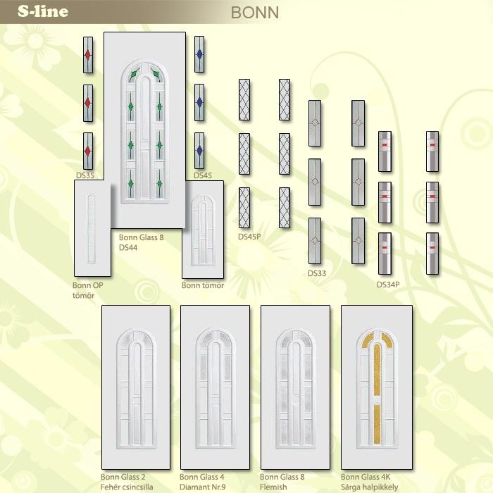 S-line Bonn műanyag ajtó