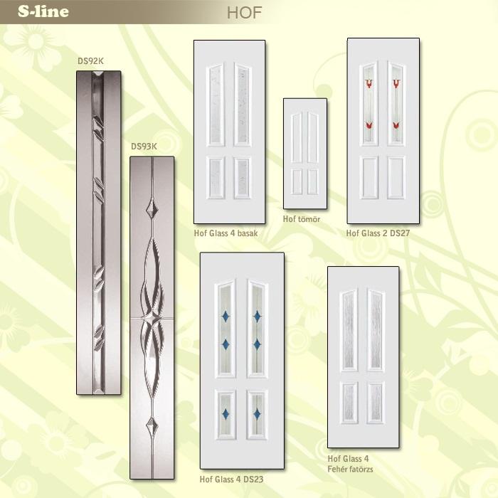 S-line Hof műanyag ajtó