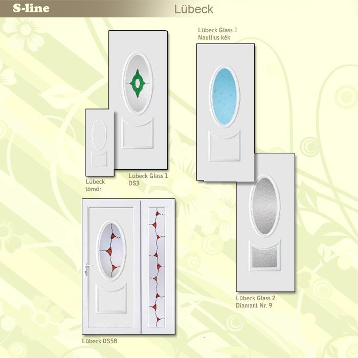 S-line Lubeck műanyag ajtó